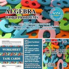 number word problem worksheet and task