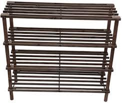 feelings 4 layer wooden shoe rack brown rj 1015