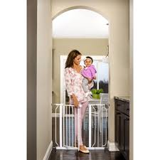 regalo extra tall baby gate  with walk through door and