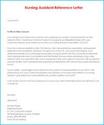 Letter Of Recommendation For Nursing School Nursing Reference Recommendation Letters 9 Sample Letters