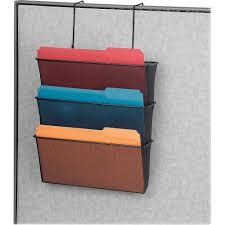 partition addition cubicle organizer mesh triple file pocket each