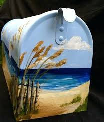 painted mailbox designs. Hand Painted Mailbox With A Sailboat On The By Custom Mailboxes . Designs S