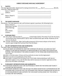 538 sample contract templates you can view, download and print for free. Simple Horse Sales Contract Instrideedition