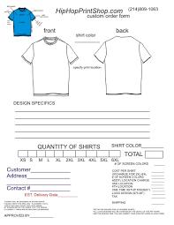 blank t shirt order form template word best photos of printable t shirt order form template free t shirt