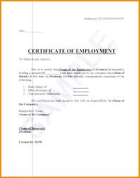 Employment Certificate Template This Is To Certify Best Of Service
