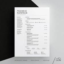 Indesign Resume Template Beauteous Frankie ResumeCV Template Word Photoshop InDesign