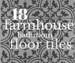 Black And White Patterned Floor Tiles Mesmerizing 48 Incredible Farmhouse Bathroom Floor Tiles Twelve On Main