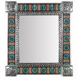 Decorative Tile Frames Mexican Mirrors Decorative Punched Tin and Handpainted Mirror Frames 92