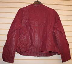 new womens plus size 3x 22 24 burdy motorcycle moto faux leather jacket coat