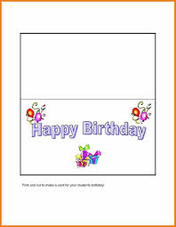 Card Templates For Word 24 Inspirational Microsoft Word Birthday Card Template Pictures 16
