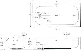 standard size bathtub size of standard bathtub post standard size bathtub drain