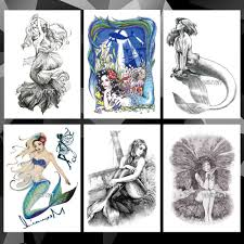 541 руб 20 скидкаподводный мир русалка водонепроницаемый временные татуировки