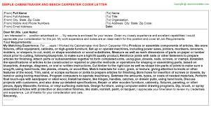 cabinet maker cover letter cabinetmaker and bench carpenter job cover letter