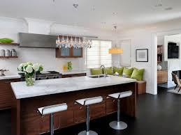 Black Kitchen Laminate Flooring Modern Kitchen Island Design Gas Range Black Glass Stove Oven