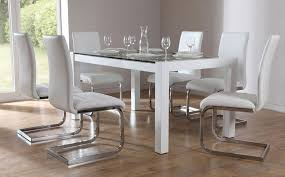 cool rectangle industrial white glass dining table design high regarding designs 9