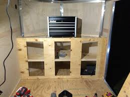 Cabinets For Cargo Trailers Custom Cabinets I Built To Fit The Front Of My 7x16 Cargo Trailer