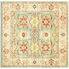 safavieh heritage peshwar light blue ivory square indoor handcrafted oriental area rug common