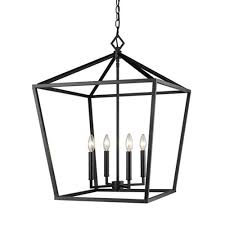 millennium lighting 3254 mb corona matte black four light lantern pendant