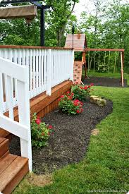 outdoor deck paint or stain. stained deck floor and top rail w/ white spindles | outdoor pinterest decks, decking backyard paint or stain