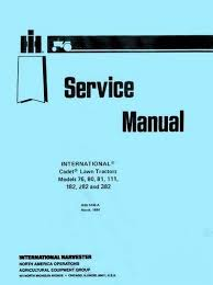 ih cub cadet service manual