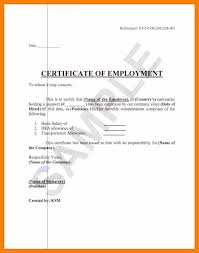 Examples Of Executive Resumes Certificate Of Employment Retirement
