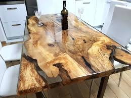 resin table wood and resin table unique 6 person resin table top tutorial