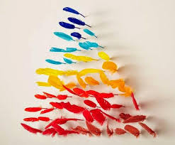 multi color feather wall decoration creative things