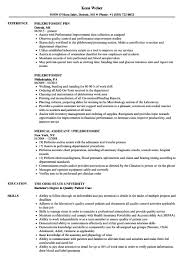 Phlebotomist Resume Phlebotomist Resume Examples Unique Phlebotomist Resume Sample Free 13