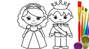 Small Picture How to Draw King and Queen Coloring Pages Kid Drawing Learn Color