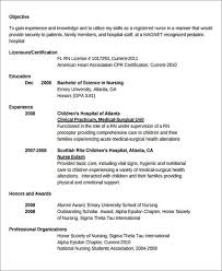 nursing resumes for new grads 7 sample new nurse resumes examples in word pdf