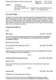 21 Free Sap Trainer Resume Samples Sample Resumes