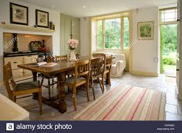 The Garden Kitchen A Traditional Farmhouse Style Kitchen With Aga Cooker Back Door