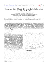 pdf ipstash a power efficient memory architecture for ip lookup