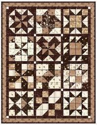 Free Block of the Month Quilt Pattern: Cinnamon-teen Chocolate ... & FQS Cinnamon-teen Chocolate Figs & Roses Adamdwight.com