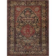 antique persian kerman lavar esfahan rug