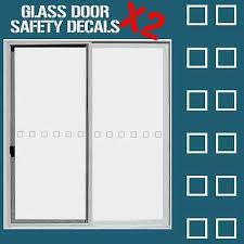 safety glass door stickers decals