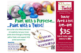 houston humane society s painting with a twist party event culturemap houston