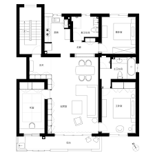 Modern Shanghai House Floor Plan Interior Design Ideas - Modern house plan interior design