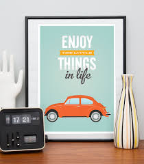 Vw Quote VW beetle print Inspirational quote print retro car poster 12