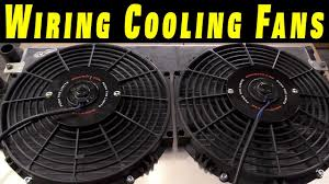 how to wire electric cooling fans crimp connections