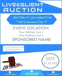Flyer With Phone Number Tabs Unique Auction Brochure Template Flyer Templates Silent Free