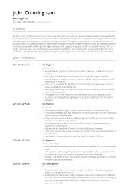 Engineering Skills Resume Site Engineer Resume Samples And Templates Visualcv