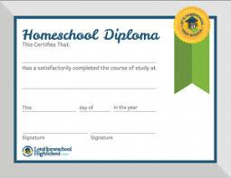 Free Homeschool Diploma Template Homeschool Diploma Template Set Up A Template For Your