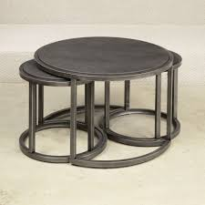 coffee table with nesting seats