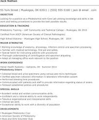 sample resume for entry level phlebotomist - Entry Level Phlebotomy Resume