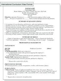 Resume Format For Applying Job Abroad Best Of International Curriculum Vitae Resume Format For Overseas Jobs