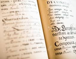 the old slavonic grammar open book close up stock photo 42117327