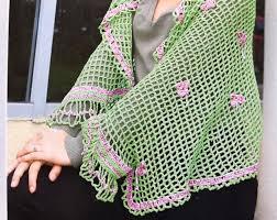 Красивая обвязка для шали или бактусавязание крючком шаль ...