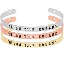 Inspirational Quotes Bracelets Beauteous Mantra Bangle Positive Inspirational Quotes Stacking Bracelets