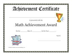 School Certificates Pdf Math Achievement Award Printable Certificate Pdf Math Activites 1